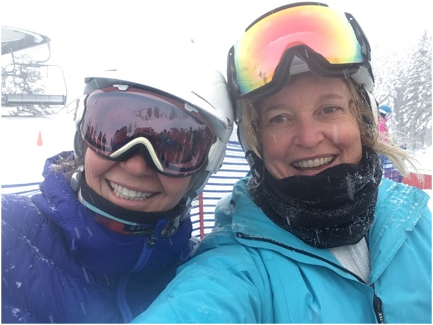 ski and be coached with sabrina